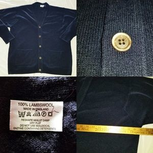 Vintage 100% Lambswool Made in England Cardigan